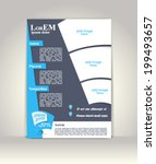 flyer  brochure or magazine... | Shutterstock .eps vector #199493657