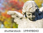 Stone Angel In Cemetery In...
