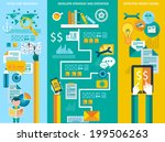 flat style ui icons to use for... | Shutterstock . vector #199506263