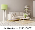 modern interior room with a... | Shutterstock . vector #199515857