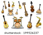 large collection of musical... | Shutterstock .eps vector #199526237