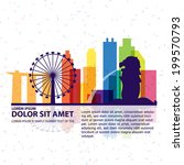 singapore vector | Shutterstock .eps vector #199570793
