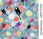 autumn seamless bright pattern...   Shutterstock .eps vector #199571993