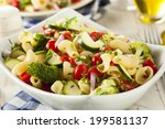 healthy homemade pasta salad... | Shutterstock . vector #199581137