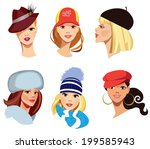 Different Faces Of Women In Hats