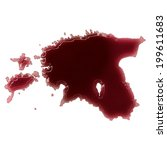 pool of blood  or wine  that...   Shutterstock . vector #199611683