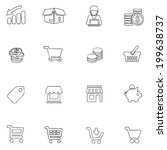 commerce icon line drawing  by...