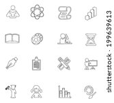 education icon line drawing  by ... | Shutterstock .eps vector #199639613