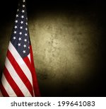 american flag in front of wall. | Shutterstock . vector #199641083