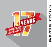 17th years anniversary... | Shutterstock .eps vector #199646873