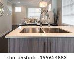 outlook at the modern kitchen... | Shutterstock . vector #199654883