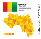 republic of guinea geometric... | Shutterstock .eps vector #199672547