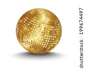 golden disco ball | Shutterstock .eps vector #199674497