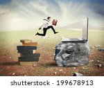 concept of technology migration ... | Shutterstock . vector #199678913