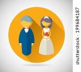 wedding symbol bride and groom... | Shutterstock .eps vector #199684187