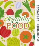 healthy food | Shutterstock .eps vector #199695233