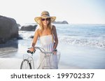 beautiful smiling blonde in... | Shutterstock . vector #199702337