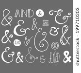 set of hand drawn ampersand... | Shutterstock .eps vector #199710203