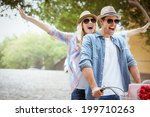 hip young couple going for a... | Shutterstock . vector #199710263