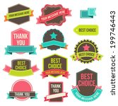 collection of labels and... | Shutterstock .eps vector #199746443