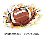 sketchy football | Shutterstock .eps vector #199762007