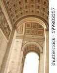 detail of l'arc de triomphe in...   Shutterstock . vector #199803257