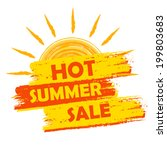 hot summer sale banner   text... | Shutterstock .eps vector #199803683