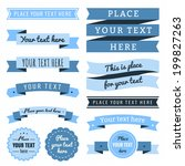 ribbons vintage vector set in... | Shutterstock .eps vector #199827263