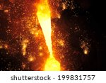 smelting of metal casting ... | Shutterstock . vector #199831757