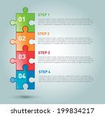 one two three four   vector... | Shutterstock .eps vector #199834217