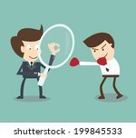 businessman competitor analysis | Shutterstock .eps vector #199845533
