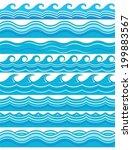 blue wave patterns  | Shutterstock .eps vector #199883567