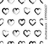 black and white seamless... | Shutterstock .eps vector #199900637