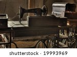 antique sewing machine | Shutterstock . vector #19993969