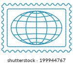 globe on the postage stamp | Shutterstock . vector #199944767