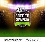 abstract soccer football poster.... | Shutterstock .eps vector #199946123