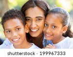 happy indian mother and her... | Shutterstock . vector #199967333