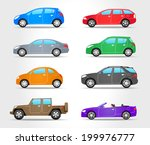 Vector Cars Icons   Side View ...