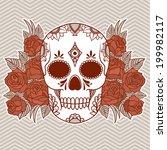 vector illustration of a skull | Shutterstock .eps vector #199982117