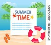 summer time beach vacation...   Shutterstock .eps vector #200005307