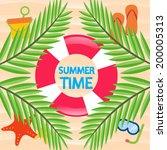 summer time beach vector...   Shutterstock .eps vector #200005313