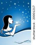 magic girl in a winter night 1 | Shutterstock . vector #20001217