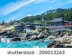 haedong yonggungsa temple sits... | Shutterstock . vector #200013263