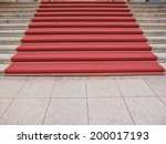 red carpet on a stairway used... | Shutterstock . vector #200017193