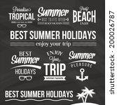 retro elements for summer  ... | Shutterstock .eps vector #200026787