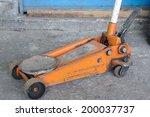 short orange screw jack on... | Shutterstock . vector #200037737