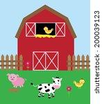barnyard | Shutterstock .eps vector #200039123