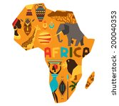 african ethnic background with... | Shutterstock .eps vector #200040353