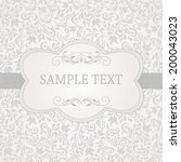 antique greeting card ... | Shutterstock .eps vector #200043023