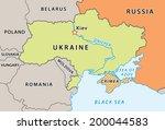 ukraine map after crimean... | Shutterstock .eps vector #200044583